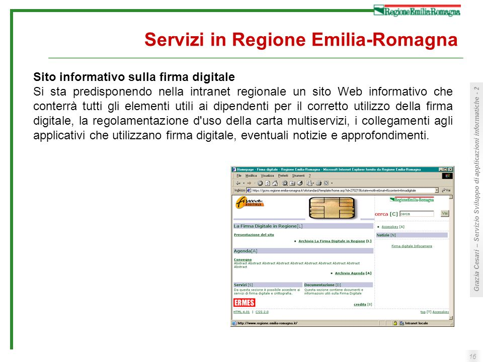 Servizi in Regione Emilia-Romagna