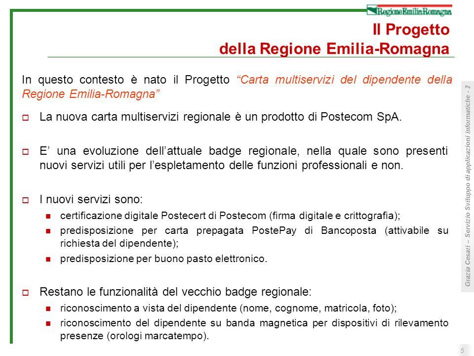 Il Progetto della Regione Emilia-Romagna