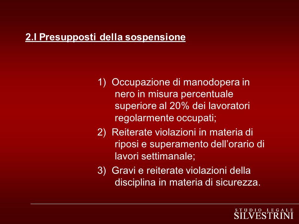 2.I Presupposti della sospensione