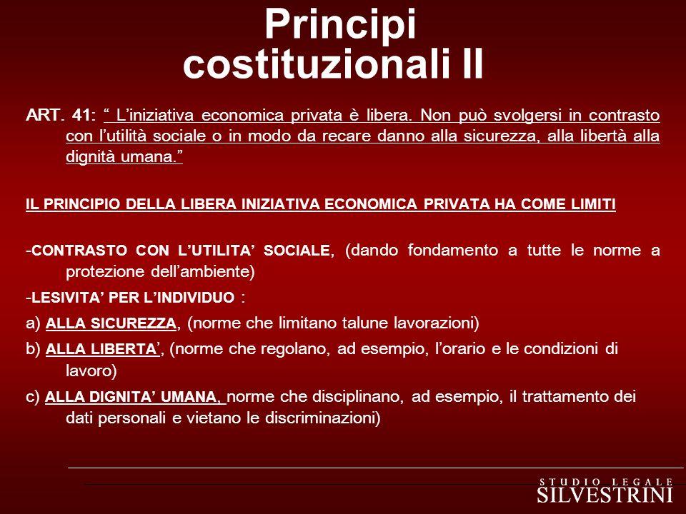 Principi costituzionali II