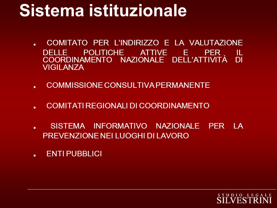 Sistema istituzionale
