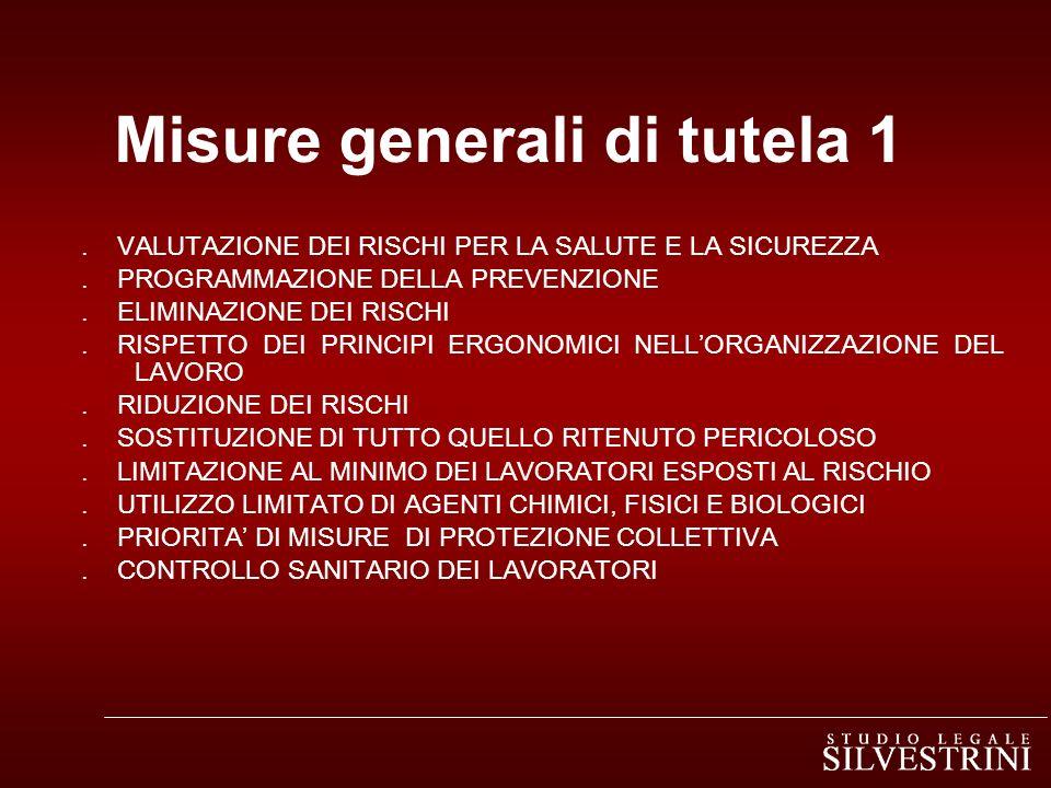 Misure generali di tutela 1