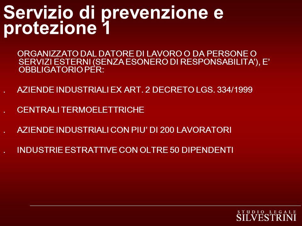 Servizio di prevenzione e protezione 1