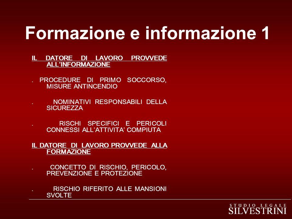 Formazione e informazione 1