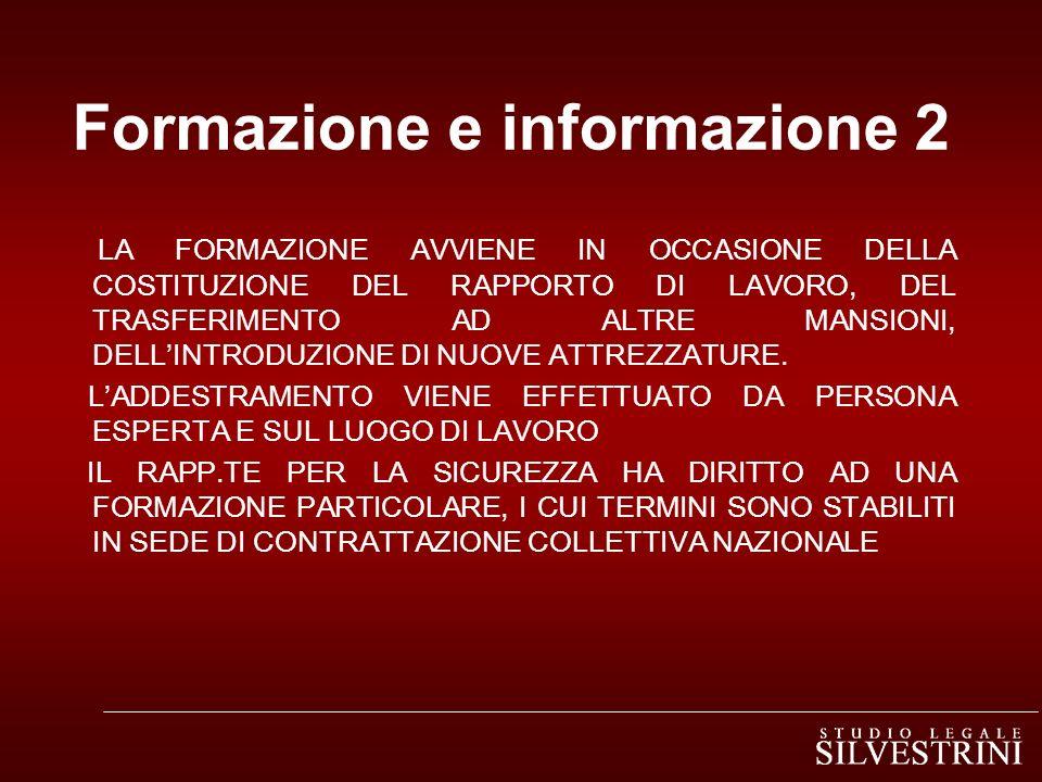 Formazione e informazione 2