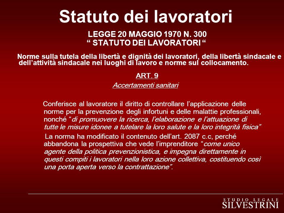 Statuto dei lavoratori LEGGE 20 MAGGIO 1970 N