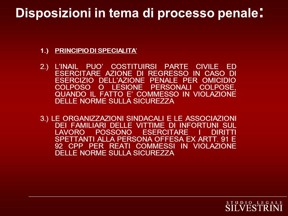 Disposizioni in tema di processo penale: