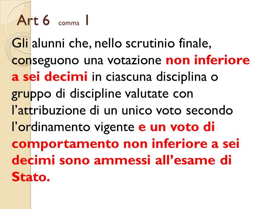 Art 6 comma 1