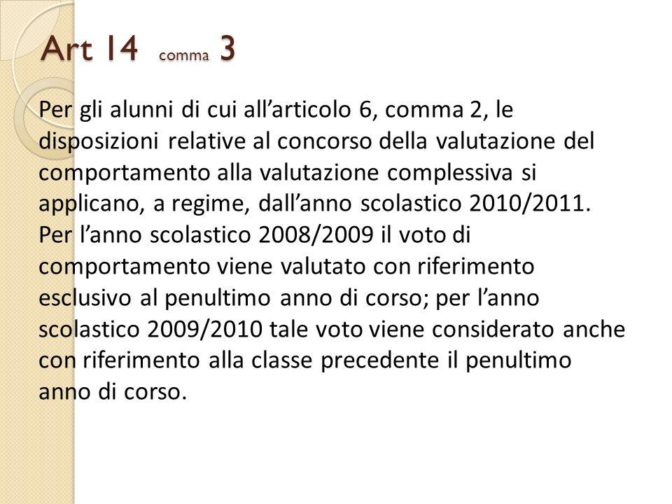 Art 14 comma 3