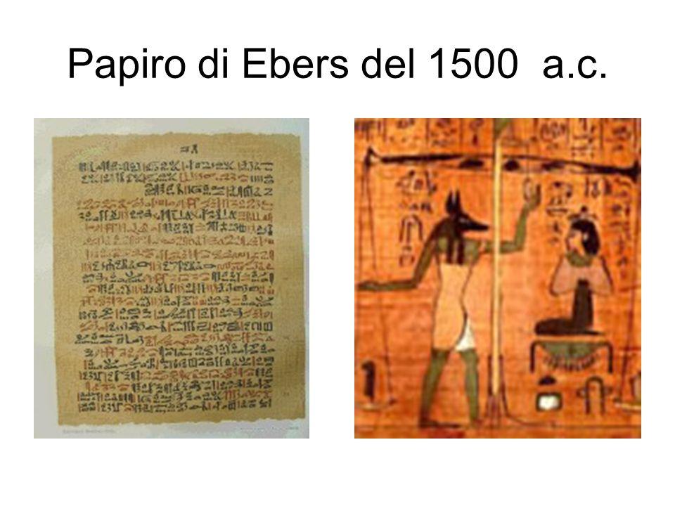 Papiro di Ebers del 1500 a.c.