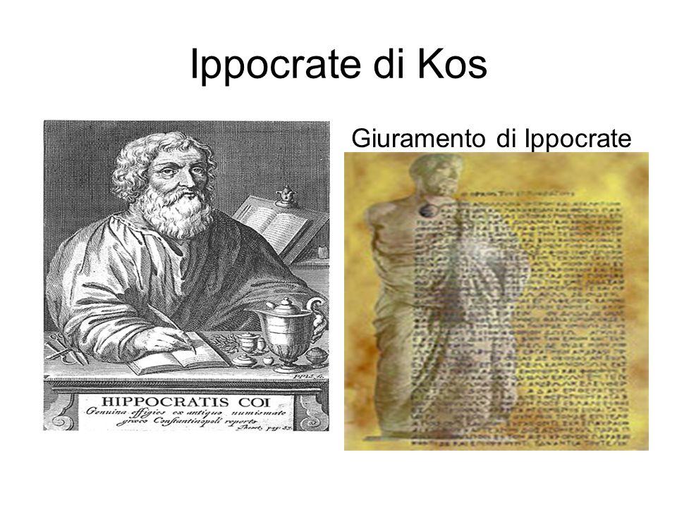 Ippocrate di Kos Giuramento di Ippocrate