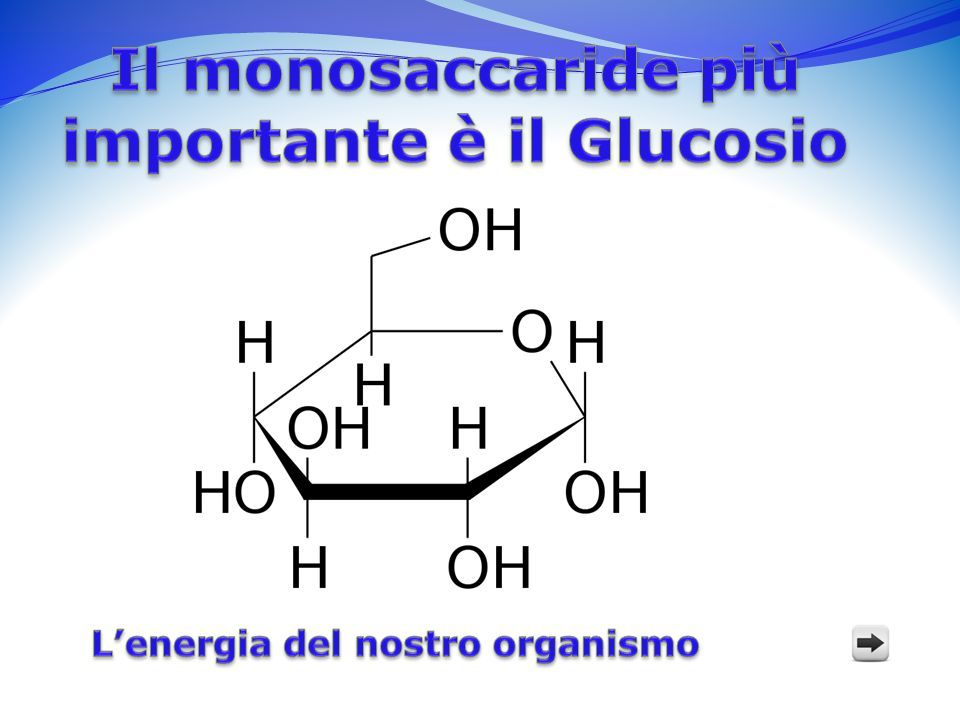 Il monosaccaride più importante è il Glucosio