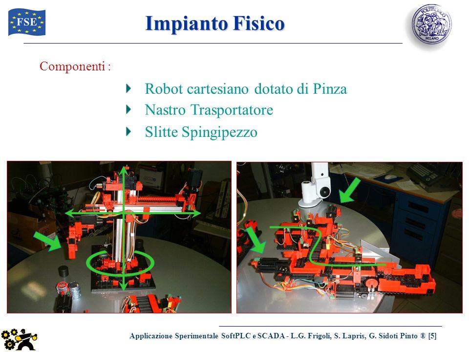 Impianto Fisico Robot cartesiano dotato di Pinza Nastro Trasportatore