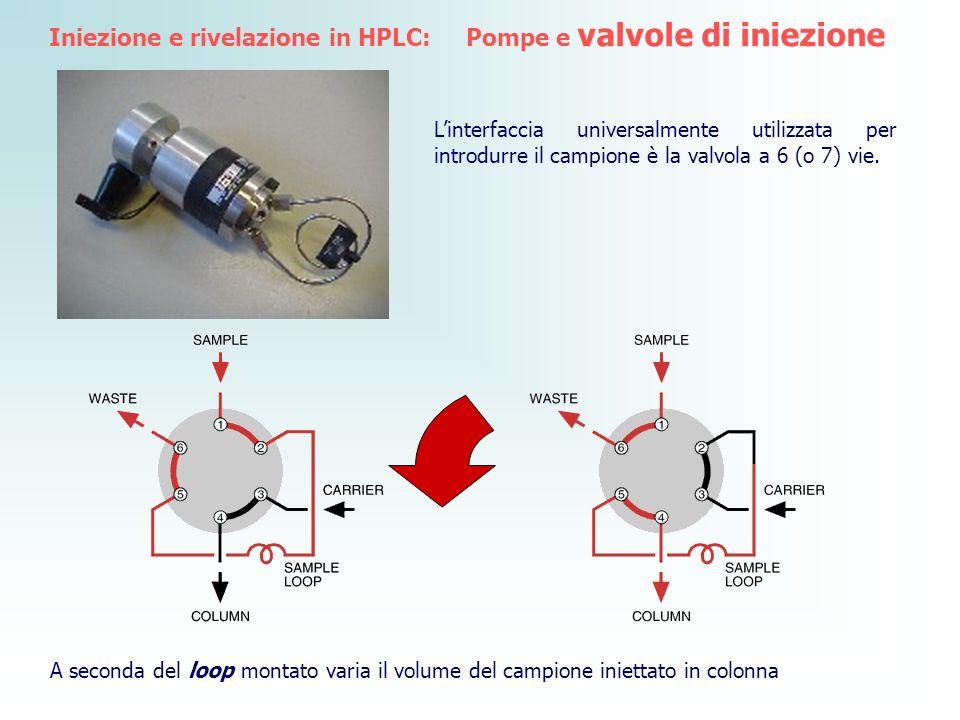 Iniezione e rivelazione in HPLC: Pompe e valvole di iniezione