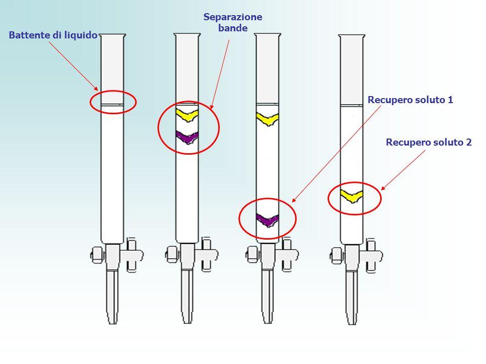 Separazione bande Battente di liquido Recupero soluto 1 Recupero soluto 2