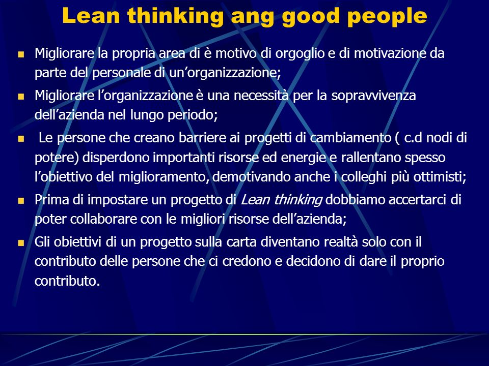 Lean thinking ang good people