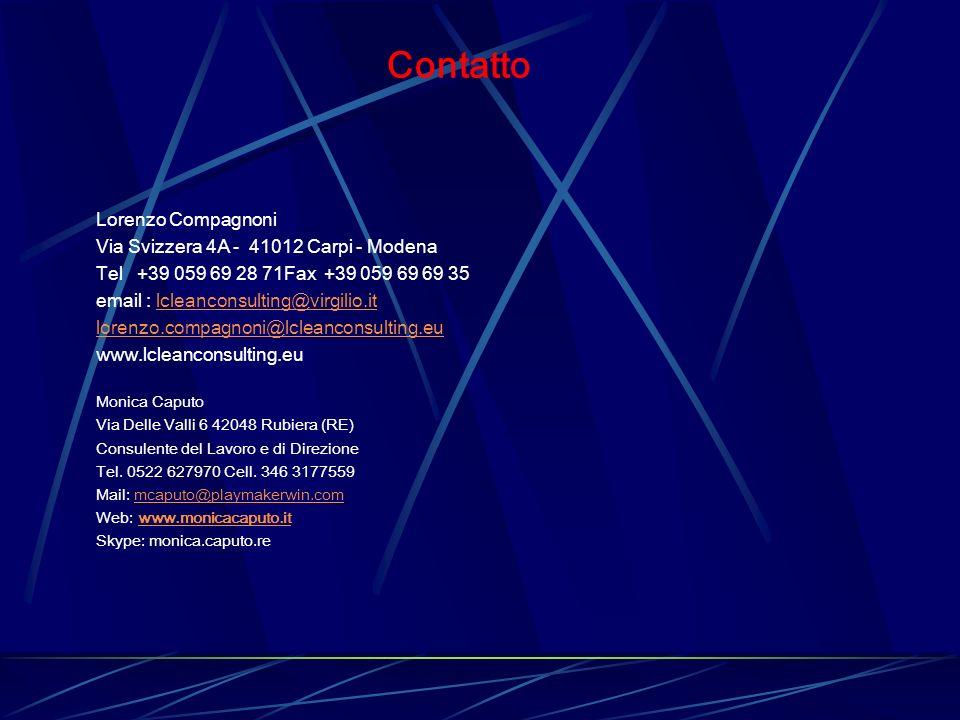 Contatto Lorenzo Compagnoni Via Svizzera 4A - 41012 Carpi - Modena