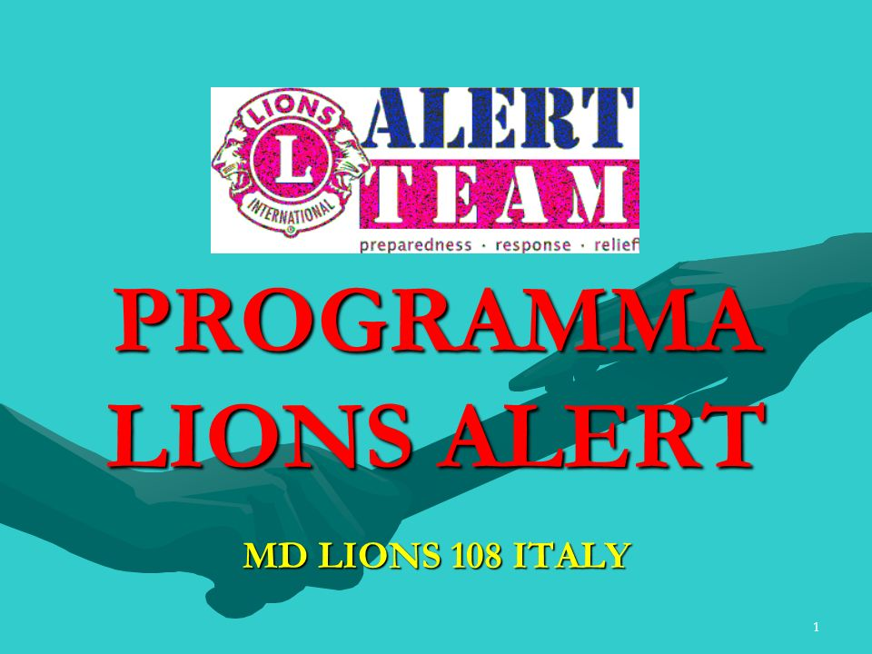 PROGRAMMA LIONS ALERT MD LIONS 108 ITALY