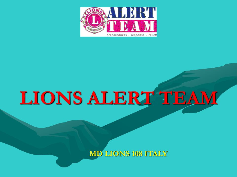 LIONS ALERT TEAM MD LIONS 108 ITALY