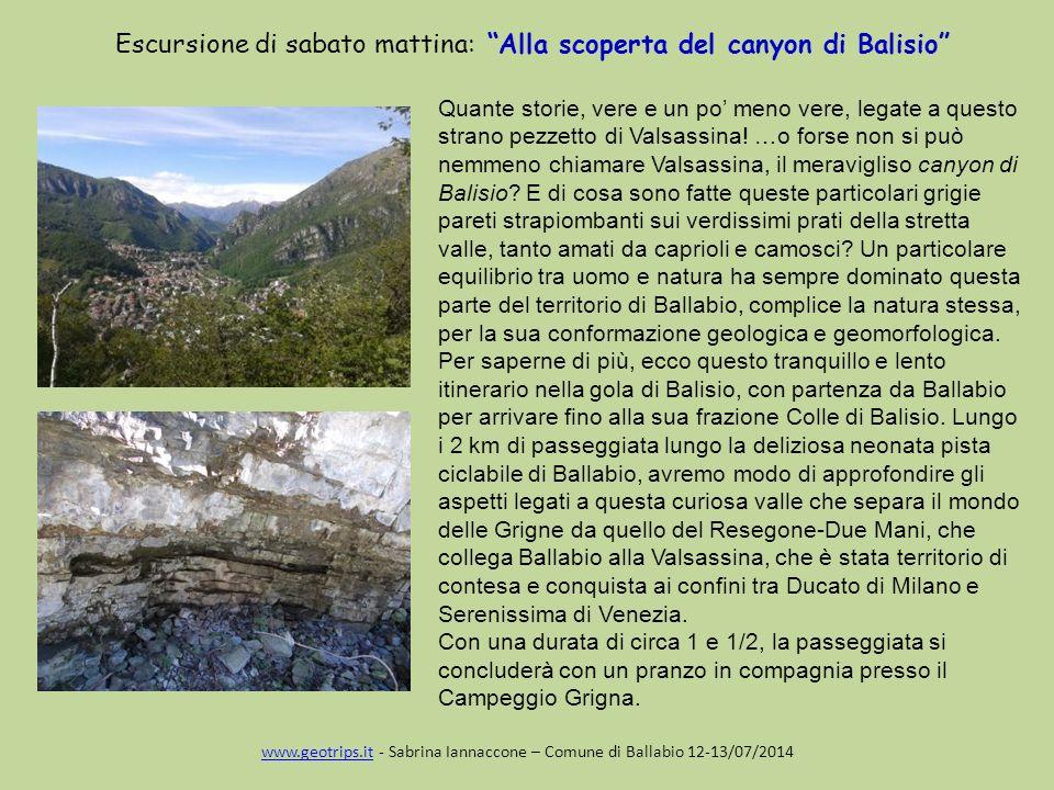 Escursione di sabato mattina: Alla scoperta del canyon di Balisio