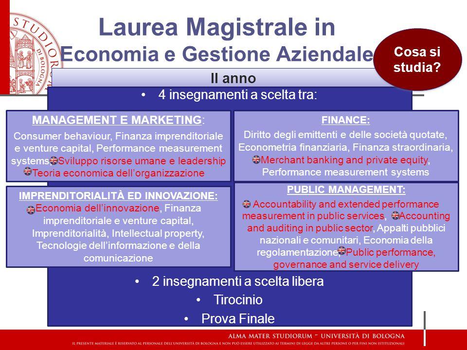Laurea Magistrale in Economia e Gestione Aziendale