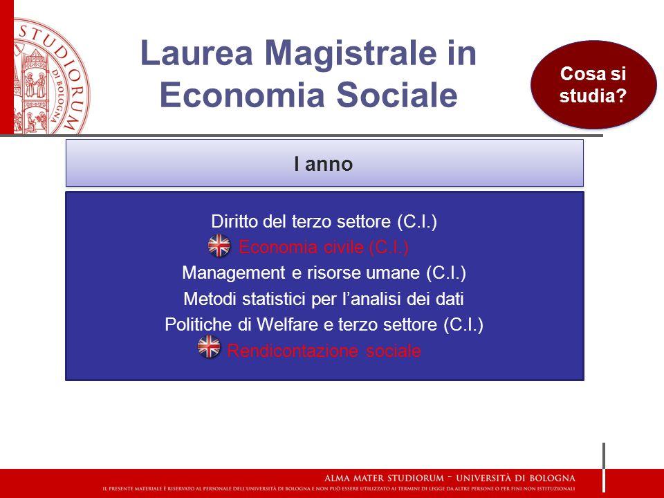 Laurea Magistrale in Economia Sociale