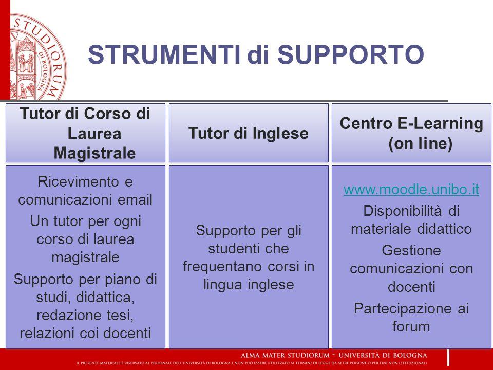 Tutor di Corso di Laurea Magistrale Centro E-Learning (on line)