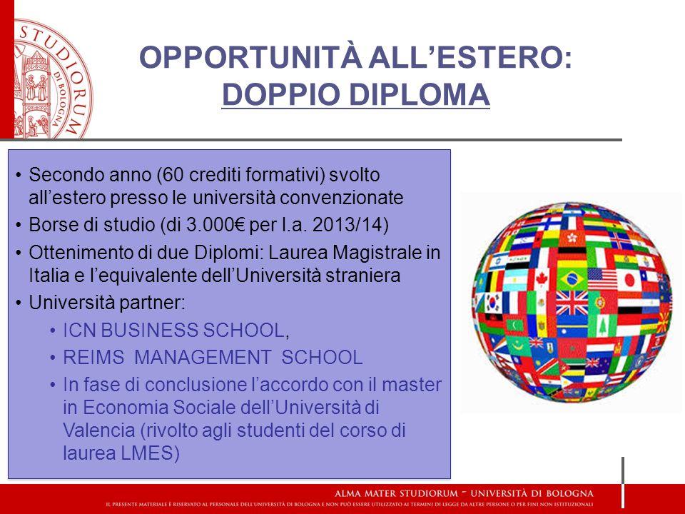 OPPORTUNITÀ ALL'ESTERO: DOPPIO DIPLOMA