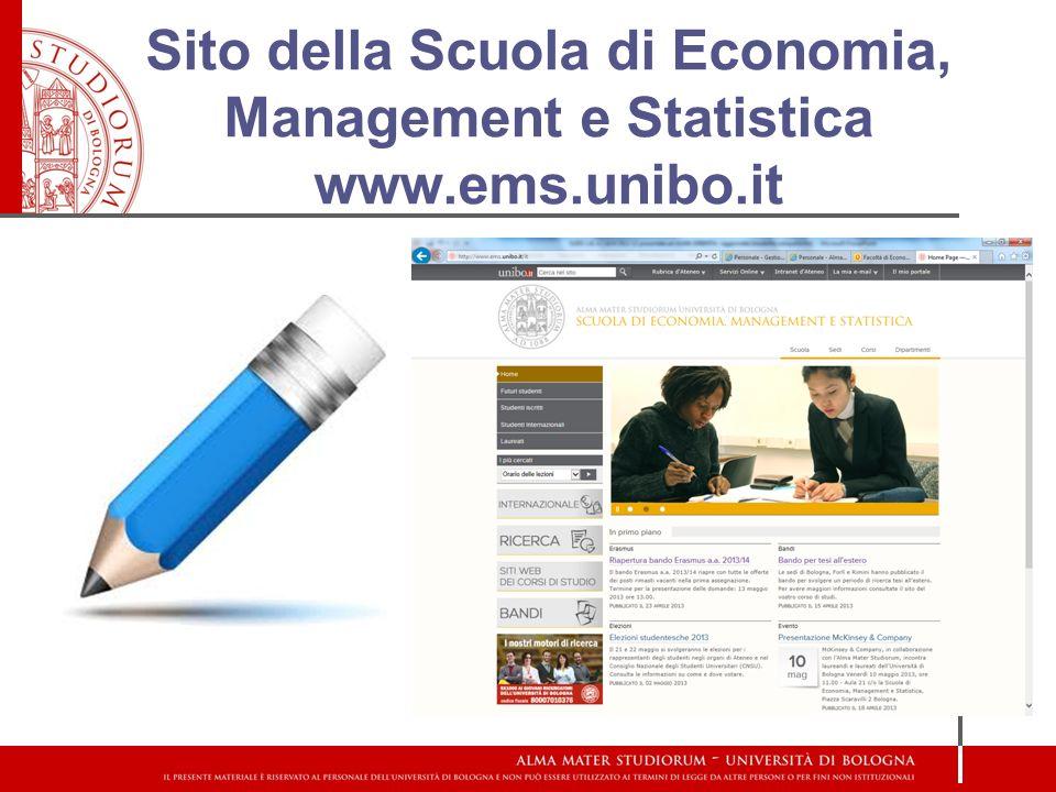 Sito della Scuola di Economia, Management e Statistica www. ems. unibo