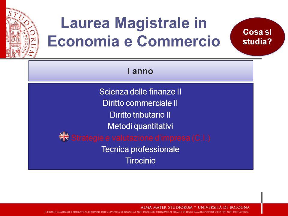 Laurea Magistrale in Economia e Commercio