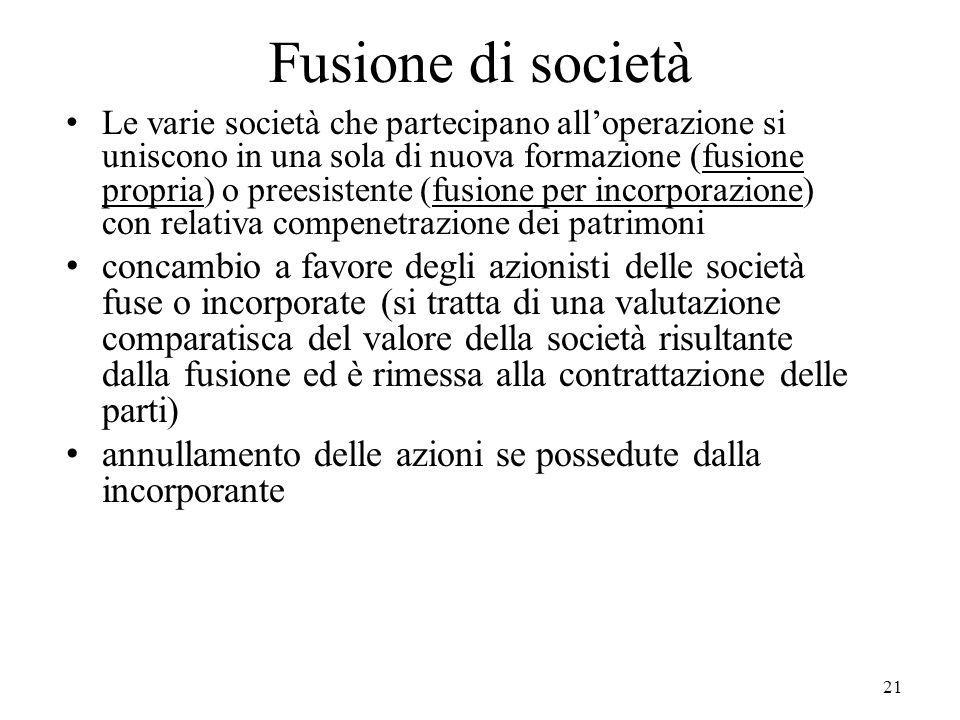 Fusione di società