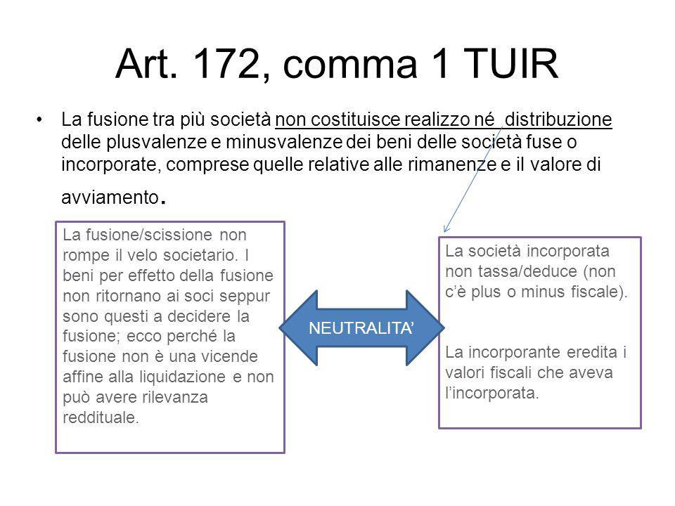 Art. 172, comma 1 TUIR