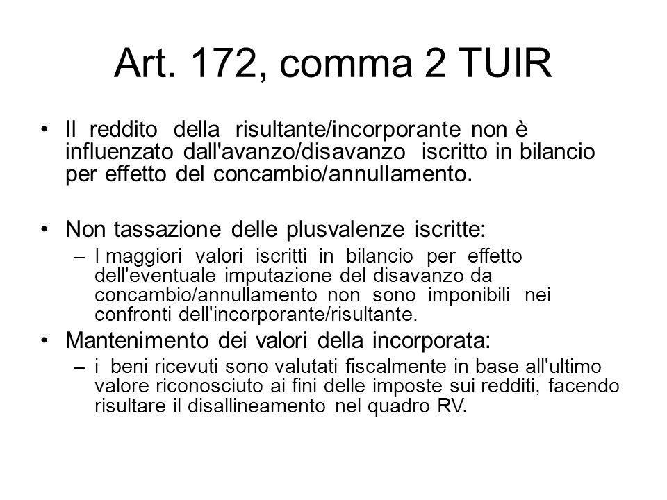 Art. 172, comma 2 TUIR