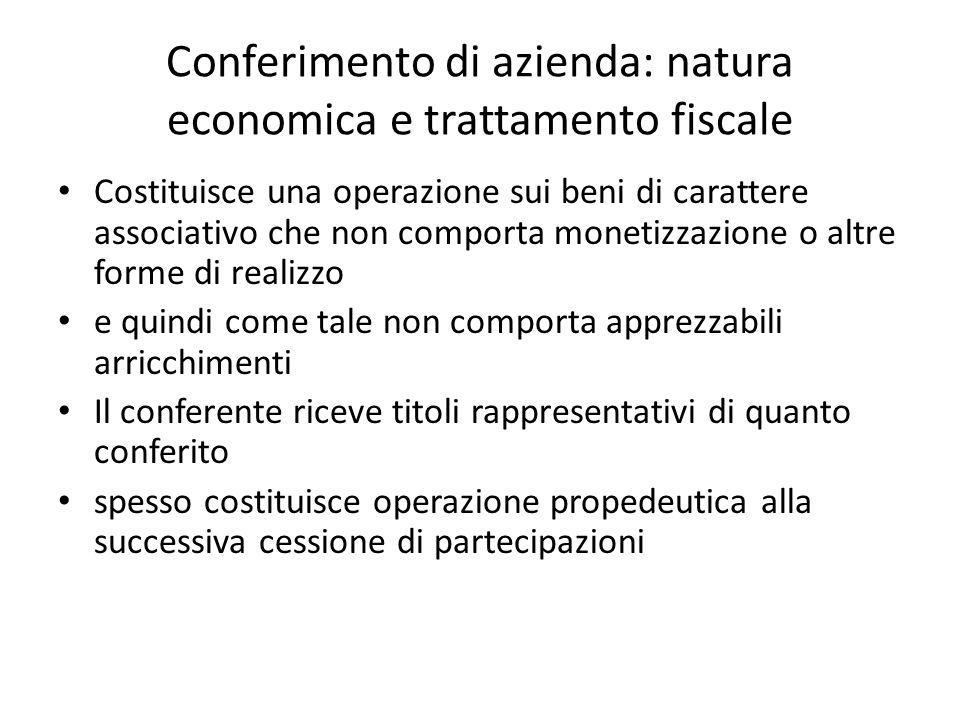 Conferimento di azienda: natura economica e trattamento fiscale