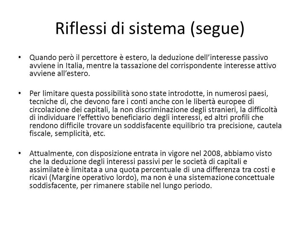 Riflessi di sistema (segue)