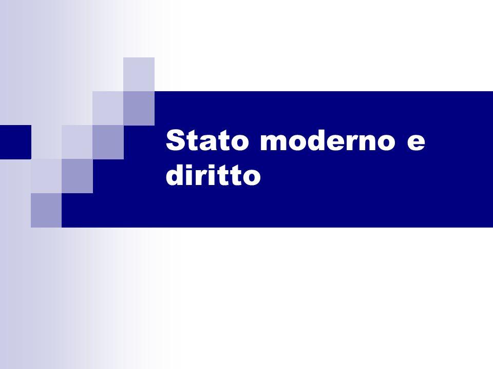 Stato moderno e diritto