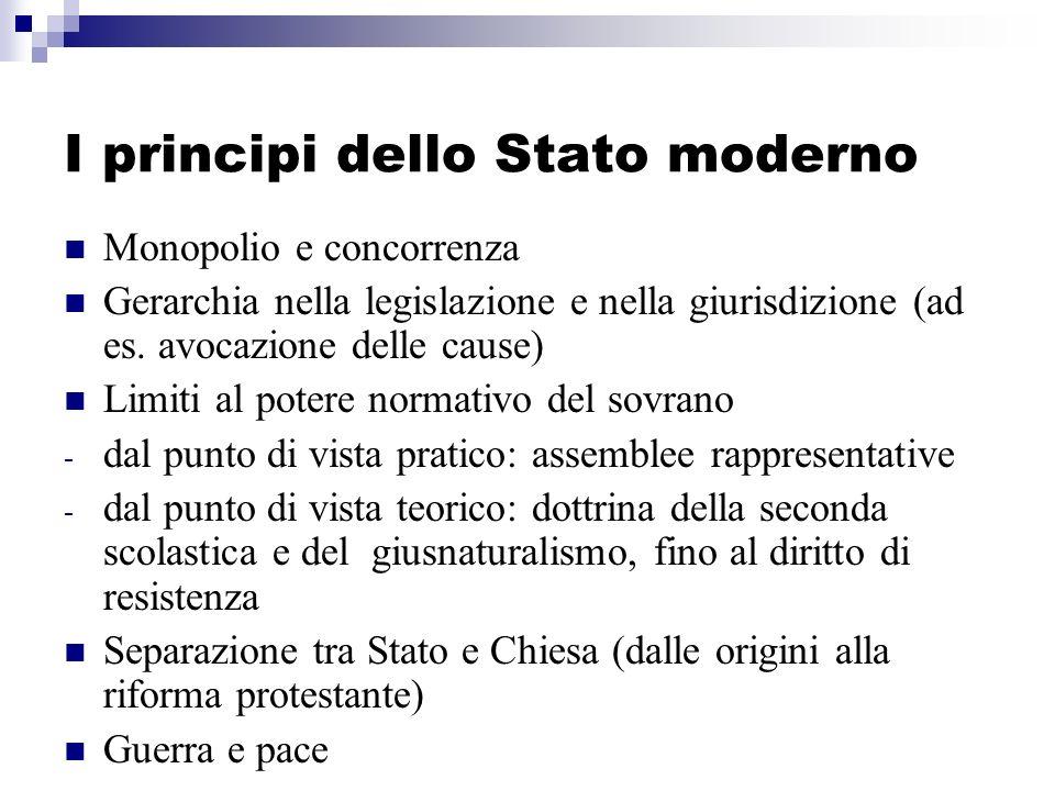 I principi dello Stato moderno