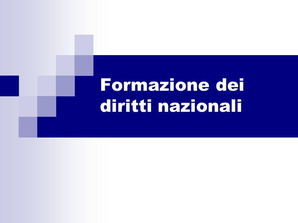 Formazione dei diritti nazionali