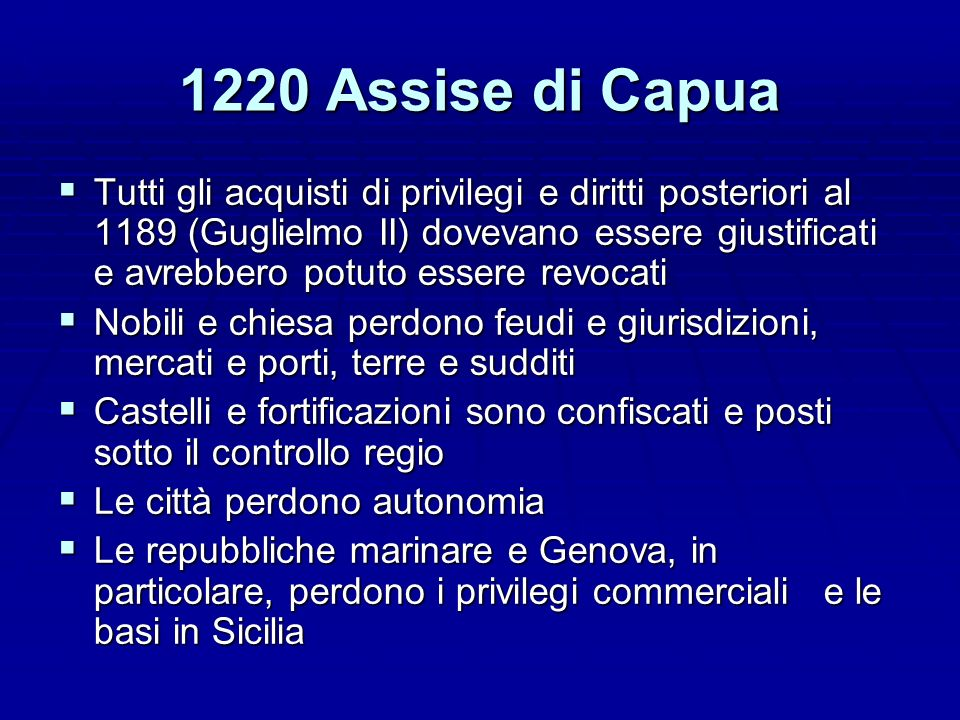 1220 Assise di Capua
