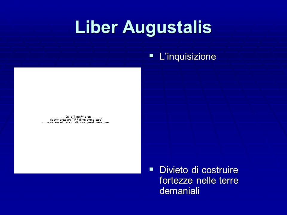 Liber Augustalis L'inquisizione