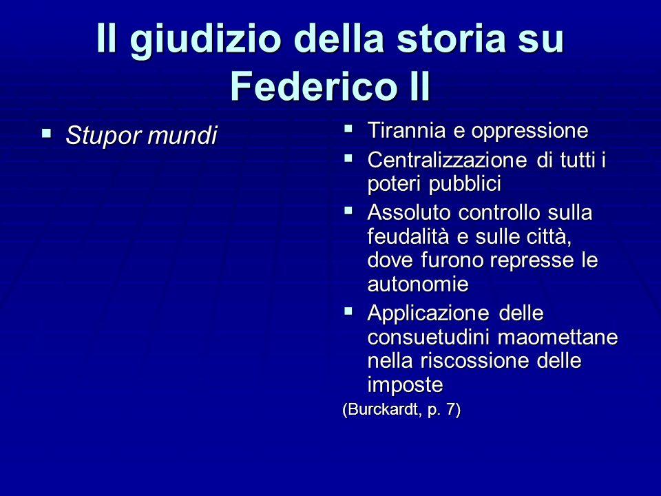 Il giudizio della storia su Federico II