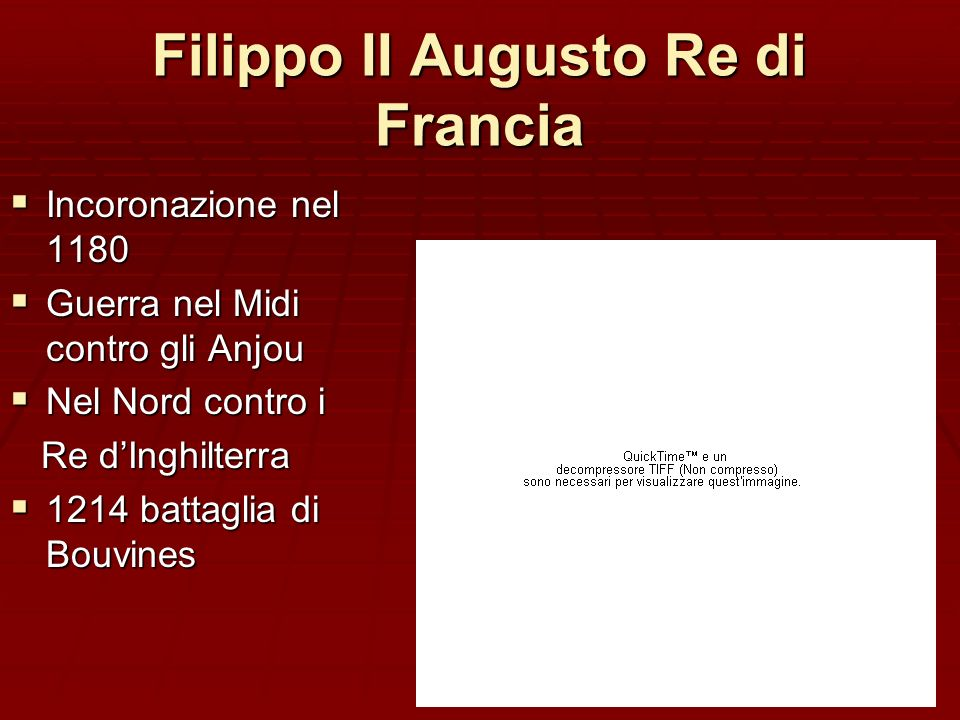 Filippo II Augusto Re di Francia