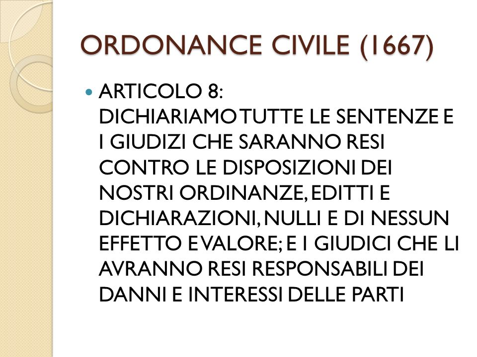 ORDONANCE CIVILE (1667)