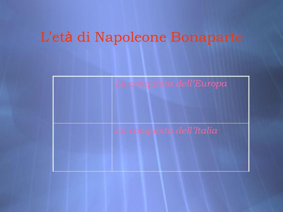L'età di Napoleone Bonaparte