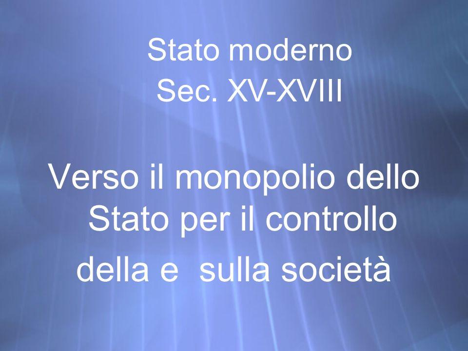 Verso il monopolio dello Stato per il controllo