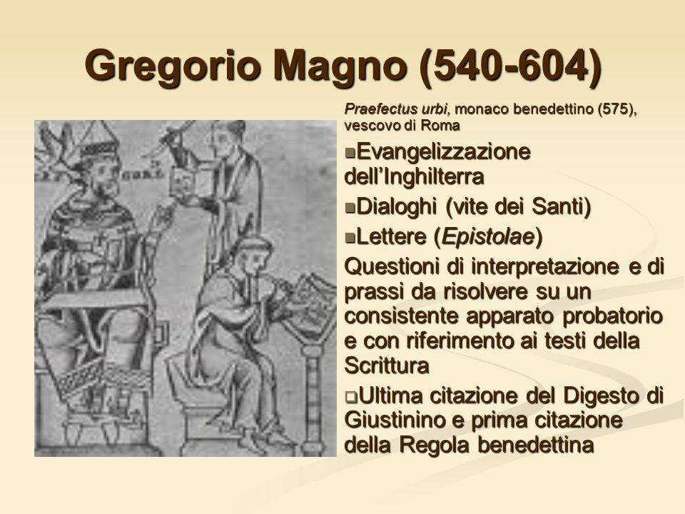 Gregorio Magno (540-604) Evangelizzazione dell'Inghilterra