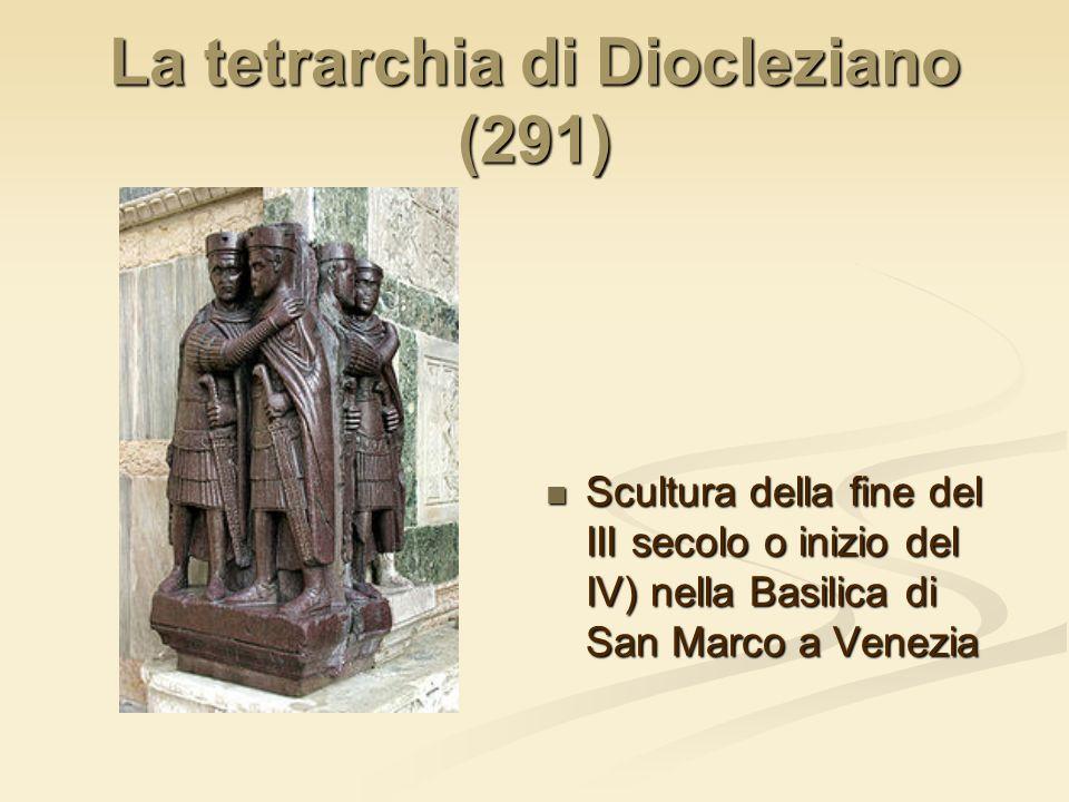 La tetrarchia di Diocleziano (291)
