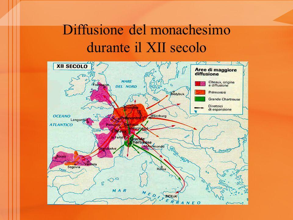Diffusione del monachesimo durante il XII secolo