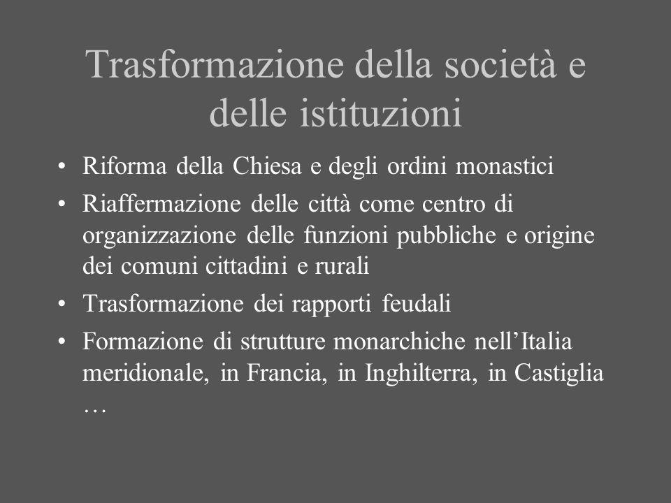 Trasformazione della società e delle istituzioni