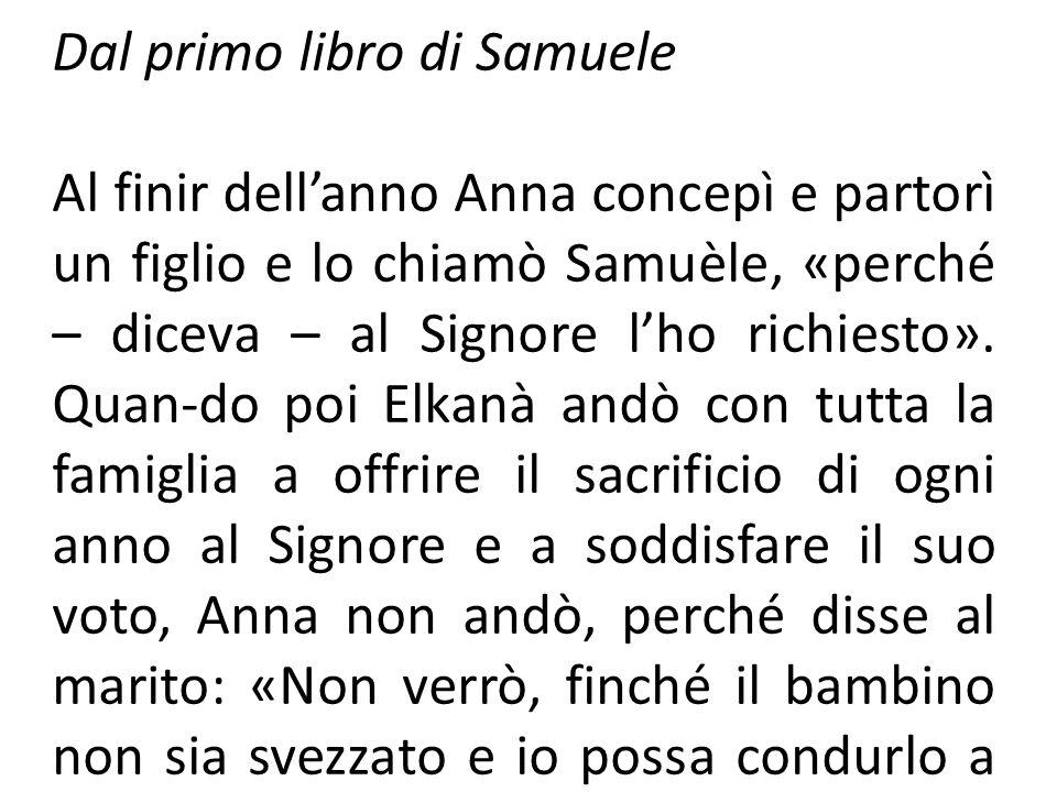 Dal primo libro di Samuele